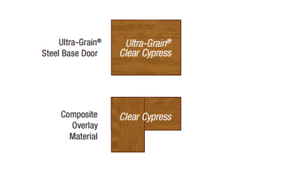 clear cypress overlay material option