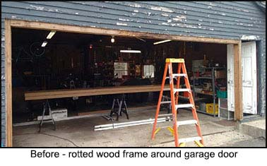 Lizzie's garage door renovation