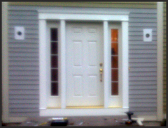 Solid Entry Door with Clarion Glass